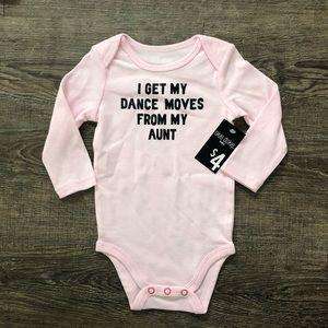 Okie Dokie Baby Girl Long Sleeved Onsie